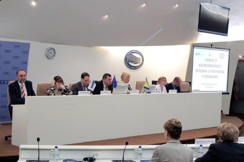 Forumu o ravnopravnosti spolova u političkim strankama