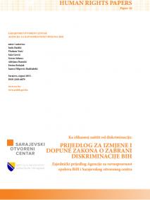 Prijedlog za izmjene i dopune Zakona o zabrani diskriminacije BiH