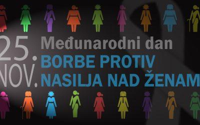 """Međunarodni dan protiv nasilja nad ženama 25. novembar – Obilježavanje kampanje """"16 dana aktivizma protiv rodno zasnovanog nasilja"""" 2015. godine u Bosni i Hercegovini"""