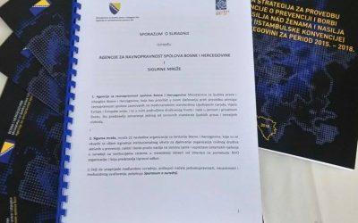 Potpisan Sporazum o saradnji, između Agencije za ravnopravnost spolova BiH i Sigurne mreže