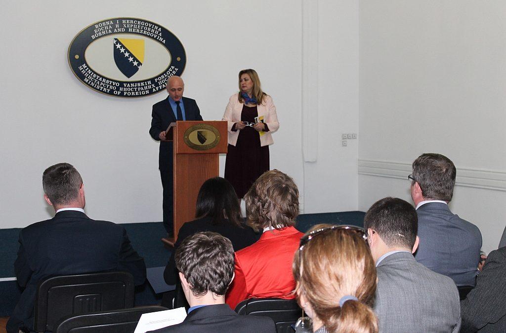 U Ministarstvu vanjskih poslova Bosne i Hercegovine promovirana kandidatura Samre Filipović – Hadžiabdić za UN Komitet za eliminaciju svih oblika diskriminacije nad ženama (CEDAW)