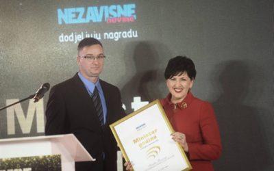 Semiha Borovac najbolja ministrica u Vijeću ministara BiH