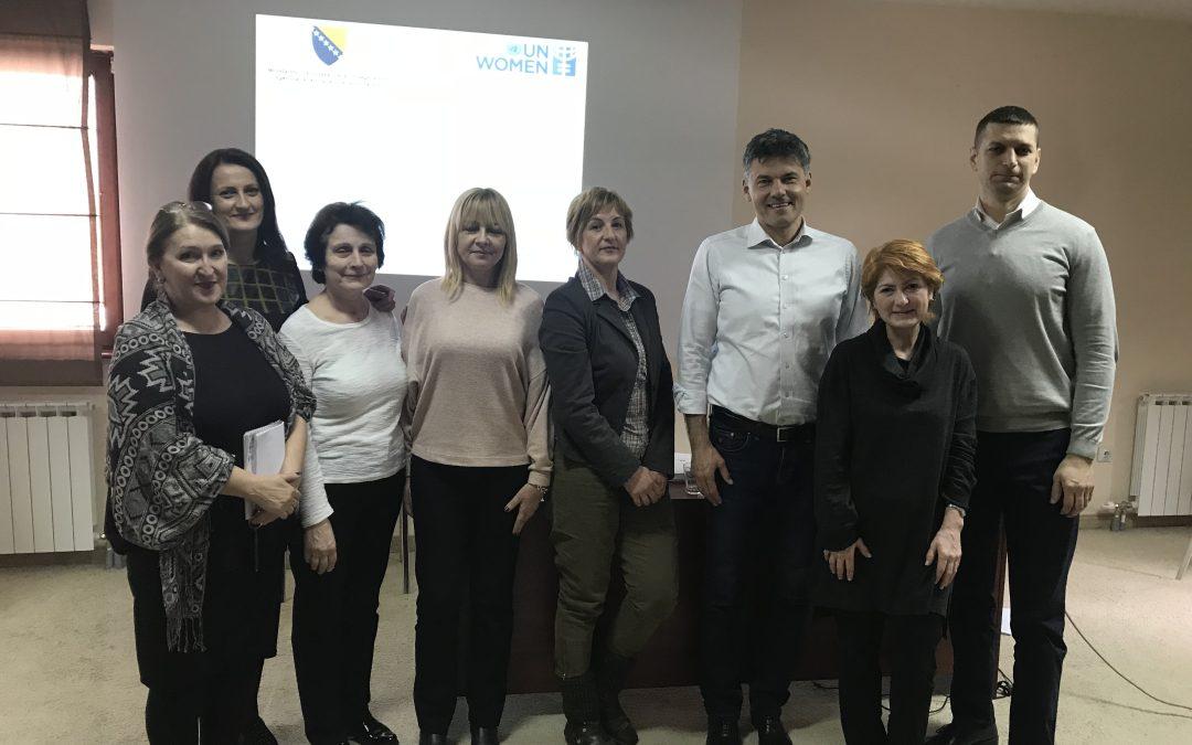 Trening o rodno odgovorno budžetiranju za predstavnike Ministarstva civilnih poslova Bosne i Hercegovine