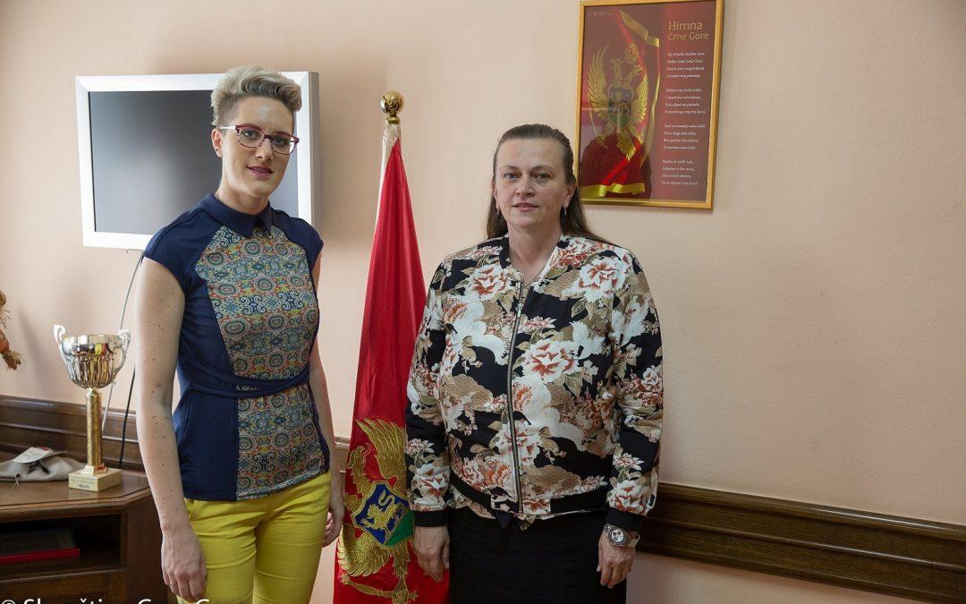 Savjetnica ministrice za ljudska prava i izbjeglice Bosne i Hercegovineodržala sastanak sa predsjednicom Odbora za rodnu ravnopravnost Crne Gore