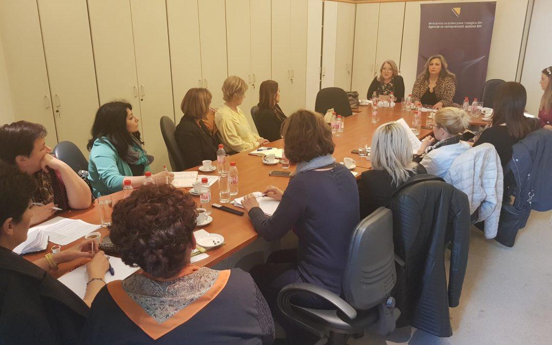 Sastanak Agencije za ravnopravnost spolova BiH sa nevladinim organizacijama